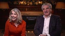 Phyllis Logan & Jim Carter talk 'Downton Abbey' Video