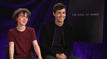 Jonah Hauer-King & Luke Doyle talk 'The Song of Names' Video