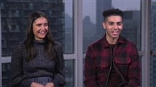 Nina Dobrev & Mena Massoud talk 'Run This Town' Video