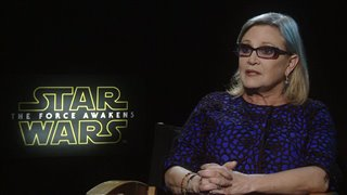 Carrie Fisher Interview - Star Wars: The Force Awakens Video Thumbnail