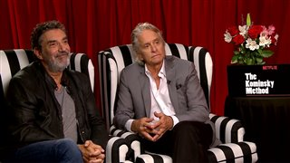Chuck Lorre & Michael Douglas talk 'The Kominsky Method'- Interview Video Thumbnail
