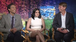 danny-pudi-ariel-winter-jack-mcbrayer-interview-smurfs-the-lost-village Video Thumbnail