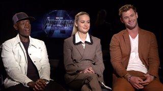 Don Cheadle, Brie Larson & Chris Hemsworth talk 'Avengers: Endgame'- Interview Video Thumbnail