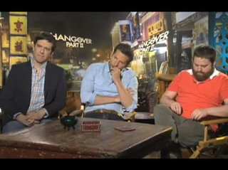 Ed Helms, Bradley Cooper & Zach Galifianakis (The Hangover Part II)- Interview Video Thumbnail
