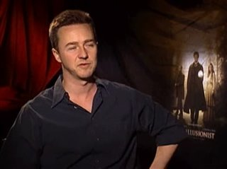 EDWARD NORTON (THE ILLUSIONIST) - Interview Video Thumbnail
