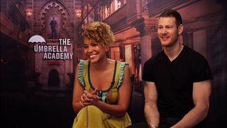 Emmy Raver-Lampman & Tom Hopper talk 'The Umbrella Academy'- Interview Video Thumbnail