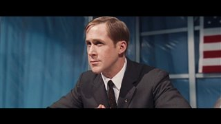 """'First Man' Movie Clip - """"Armstrong and Aldrin Answer Questions"""" Video Thumbnail"""