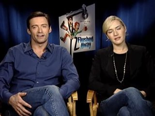 HUGH JACKMAN & KATE WINSLET (FLUSHED AWAY) - Interview Video Thumbnail