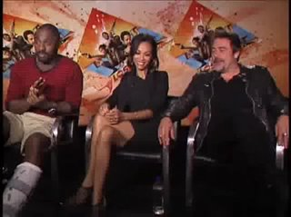 Idris Elba, Zoë Saldana & Jeffrey Dean Morgan (The Losers) - Interview Video Thumbnail