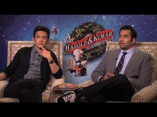 John Cho & Kal Penn (A Very Harold & Kumar 3D Christmas)- Interview Video Thumbnail