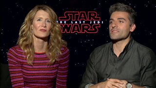 laura-dern-oscar-isaac-interview-star-wars-the-last-jedi Video Thumbnail