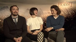 Lee Pace, Evangeline Lilly & Orlando Bloom (The Hobbit: The Battle of the Five Armies)- Interview Video Thumbnail