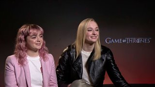 Maisie Williams & Sophie Turner talk 'Game of Thrones'- Interview Video Thumbnail