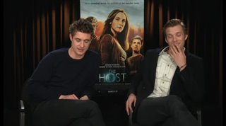 Max Irons & Jake Abel (The Host)- Interview Video Thumbnail