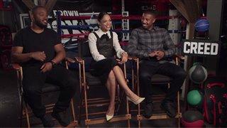 Michael B. Jordan, Tessa Thompson & Ryan Coogler - Creed- Interview Video Thumbnail