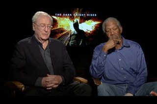 Michael Caine & Morgan Freeman (The Dark Knight Rises) - Interview Video Thumbnail