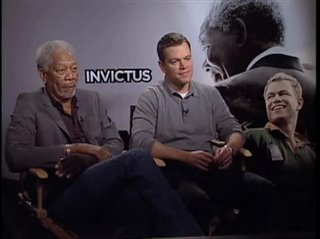 Morgan Freeman & Matt Damon (Invictus) - Interview Video Thumbnail
