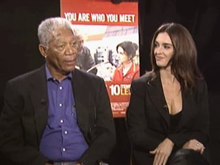 MORGAN FREEMAN & PAZ VEGA (10 ITEMS OR LESS) - Interview Video Thumbnail