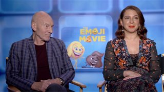patrick-stewart-maya-rudolph-interview-the-emoji-movie Video Thumbnail