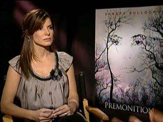 SANDRA BULLOCK (PREMONITION)- Interview Video Thumbnail