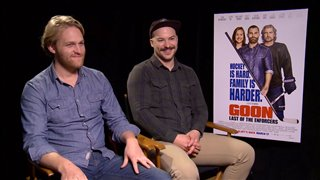 Wyatt Russell & Marc-André Grondin Interview - Goon: Last of the Enforcers Video Thumbnail