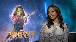 Zoe Saldana (Guardians of the Galaxy)- Interview Video Thumbnail